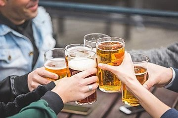 protea wellness, importance of water, group of men with beer